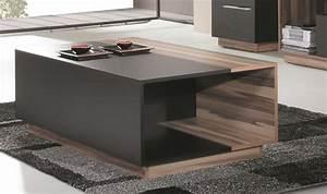 Meuble Haut Salon : combinaison meuble table basse et meuble tv black ~ Teatrodelosmanantiales.com Idées de Décoration