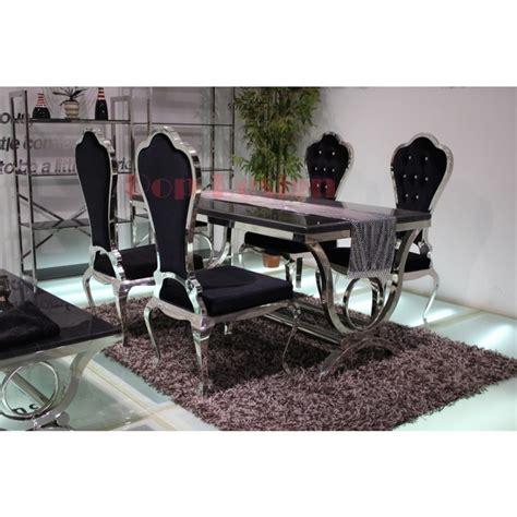 canapé pu chaises de salle à manger en inox virtuose lot de 6