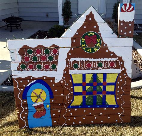 gingerbread house lights decorations gingerbread house made from pallet christmas or holiday