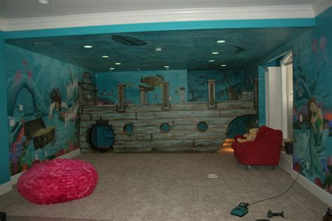 bawden fine murals sunken ship pirate underwater mural