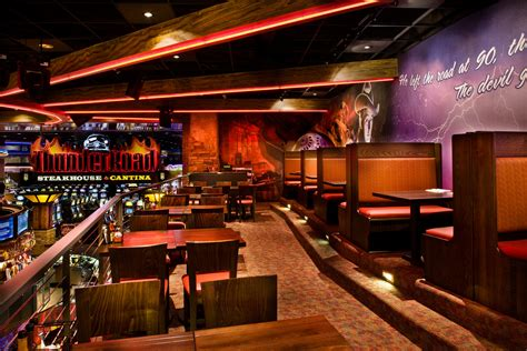thunder road steakhouse themed casino restaurant design by i 5 design