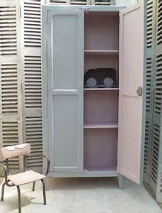 Armoire Parisienne Vintage : armoire parisienne vendue atelier vintage ~ Teatrodelosmanantiales.com Idées de Décoration
