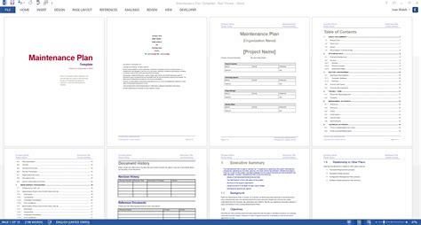 Maintenance Plan by Maintenance Plan Template Checklist Log Ms Word Excel