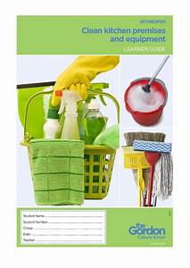Clean Kitchen Premises And Equipment Learner Guide By