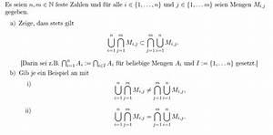 Schnittmenge Berechnen : analysis mengenlehre vereinigung und schnittmenge mathelounge ~ Themetempest.com Abrechnung