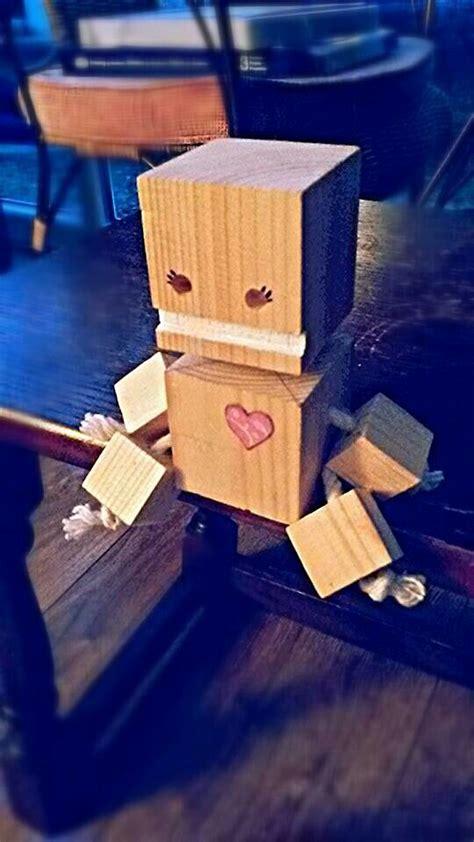 block bot blockhesds wood toys wood crafts wooden toys