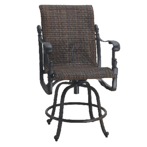 florence woven balcony stool by gensun family leisure