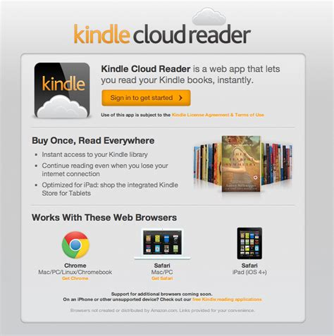 kindle cloud reader iphone releases browser based kindle cloud reader the