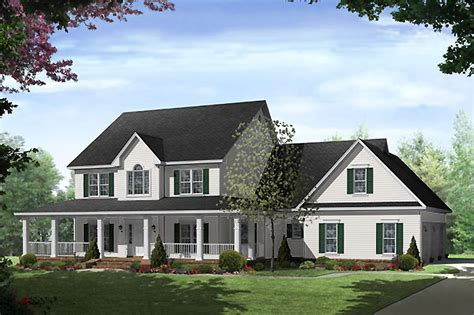Country Style House Plan  4 Beds 35 Baths 3000 Sqft