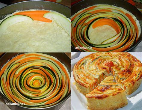 une tarte aux courgettes et carottes