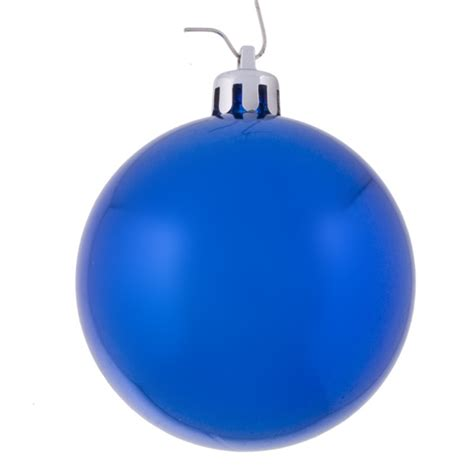 blue baubles shiny shatterproof pack of 18 x 60mm