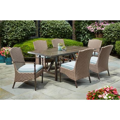 hton bay bolingbrook 7 patio dining set with