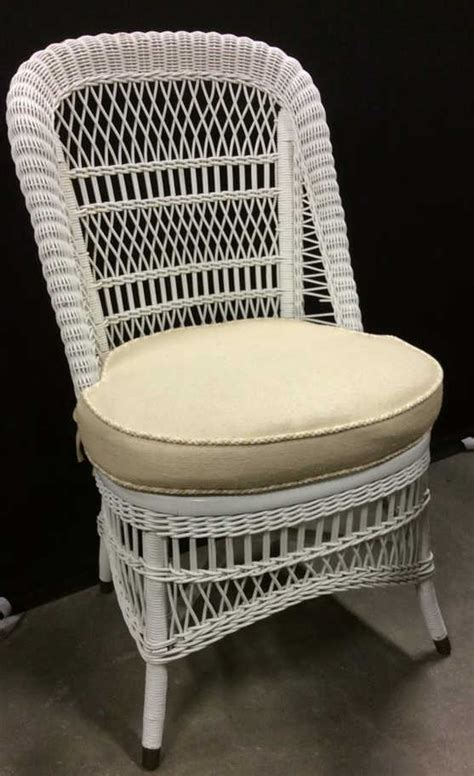 intricately woven white wicker chair upholstery