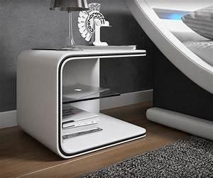 Moderne Hängeleuchten Design : nachtkonsole oscar weiss 52x40 cm mit led beleuchtung ~ Michelbontemps.com Haus und Dekorationen