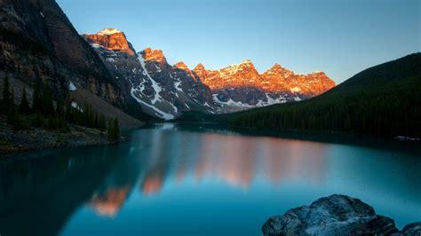 壁紙 モレーン湖、バンフ国立公園、カナダ、山、夕暮れ 1920x1200 Hd 無料のデスクトップの背景, 画像