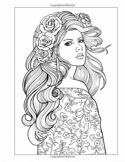 Coloring Pages Woman Printable Getcolorings