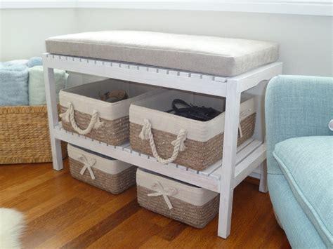 panier de basket de bureau un banc à chaussure diy facile à réaliser bidouilles ikea