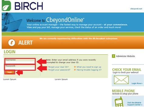 CbeyondOnline & Birch Connect Webmail (Cbeyond Webmail ...