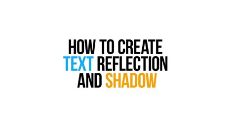 create text reflection  shadow  vsdc video
