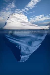 Giant Iceberg Underwater