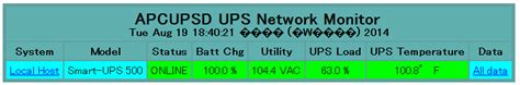 windows7 webrick apcupsdで upsの状態をブラウザから確認する メモ的な思考的な