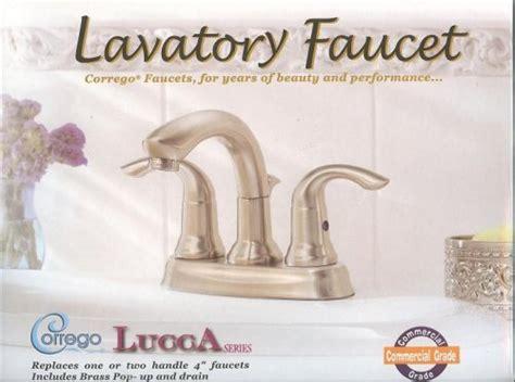 corrego kitchen faucet best corrego lucca commercial grade series lavatory faucet