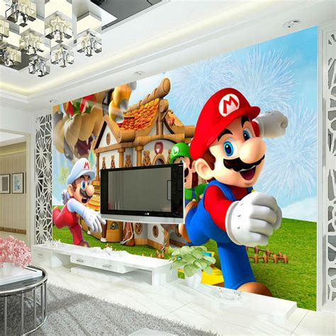 super mario photo wallpaper personalized custom  wall
