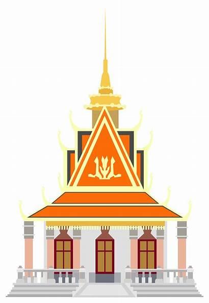 Clipart Penh Phnom Pagoda Palace Svg Cambodia