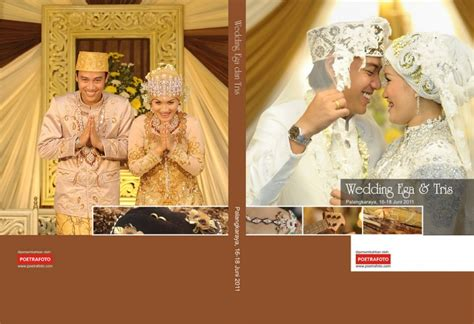 cover album kolase foto pernikahan wedding book colase