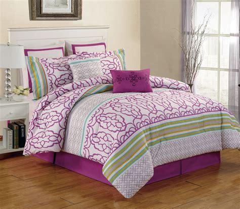 8 piece cal king arvada purple comforter set