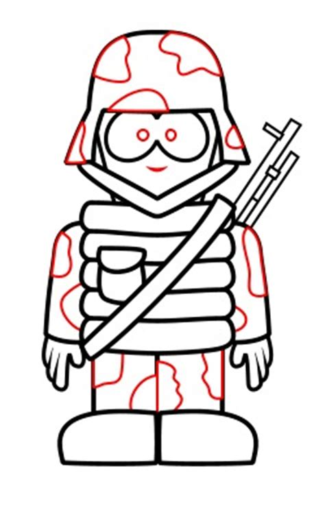 drawing  cartoon soldier