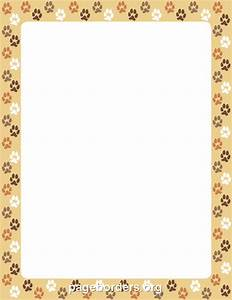Dog Paw Print Border: Clip Art, Page Border, and Vector ...