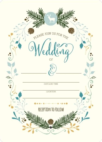 Whimsical Woodland Foliage Fill In The Blank Wedding