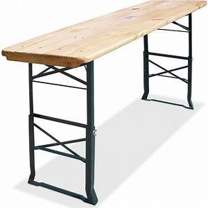 Table haute pliable Hauteur réglable 170cm Table de bar Emplacement parasol