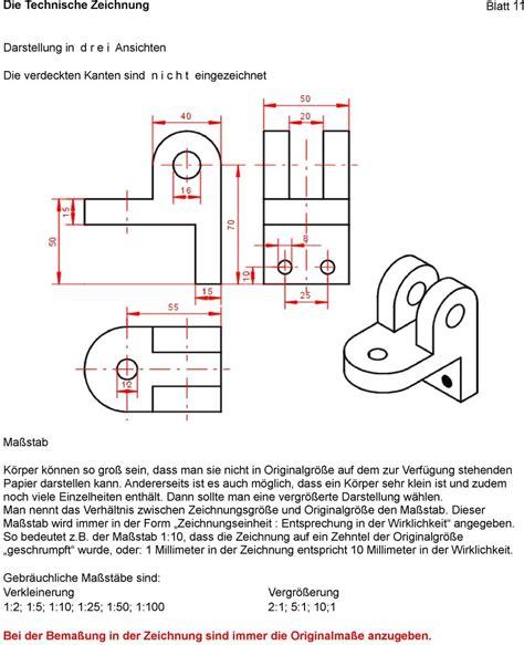 technische zeichnung ansichten die technische zeichnung blatt 1 grundlagen pdf