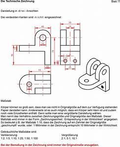 Technische Zeichnung Ansichten : die technische zeichnung blatt 1 grundlagen pdf ~ Yasmunasinghe.com Haus und Dekorationen