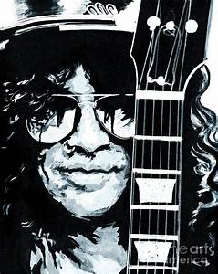 Some Cool Guitar Player- Slash Painting by Tanya Filichkin