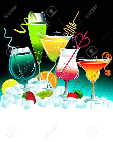 Summer Cocktail Party Clipart (75