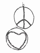 Coloring Earrings Peace Jewelry Pages Earring Template Ear sketch template