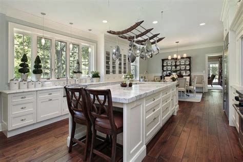 kitchen island with hanging pot rack 40 kitchens with hanging pot racks pictures