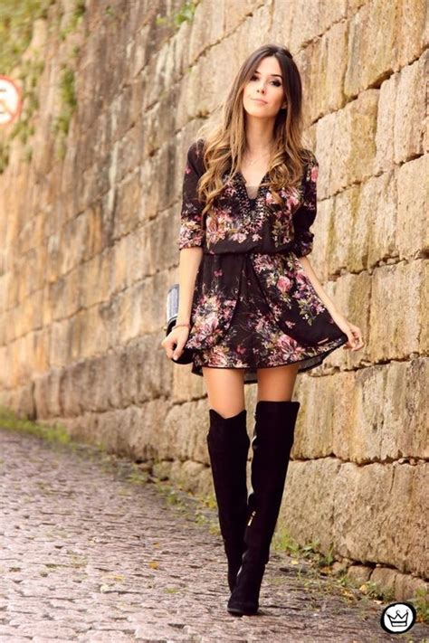 stylish ways  wear suede   knee boots style