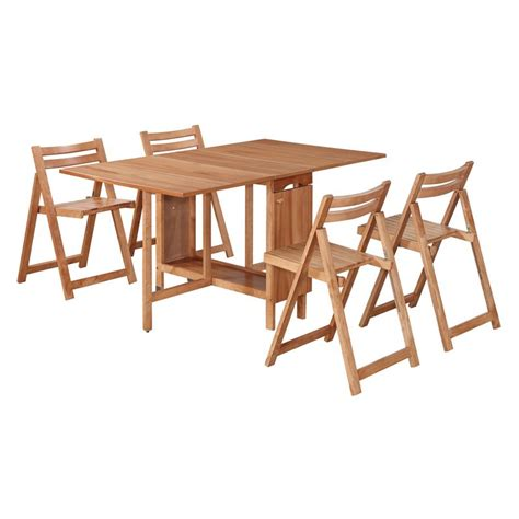 linon delany 5 space saver folding dining set with