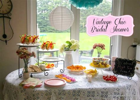 ideas for bridal showers at home vintage chic bridal shower serving from home