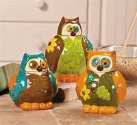 owl kitchen decor Owl Canisters Jars - Kitchen Decor - Set of 3 NEW | eBay