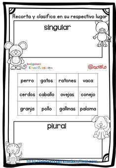 singularplural images spanish grammar