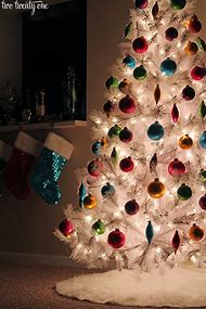 Colorful White Christmas Tree