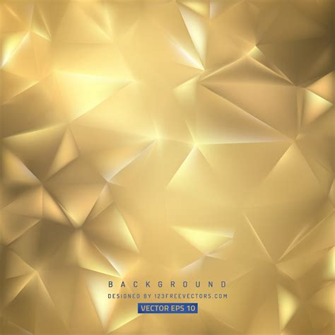 gold polygon background template freevectors
