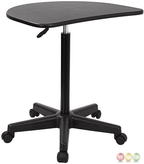 adjustable mobile laptop desk height adjustable mobile laptop computer desk with black