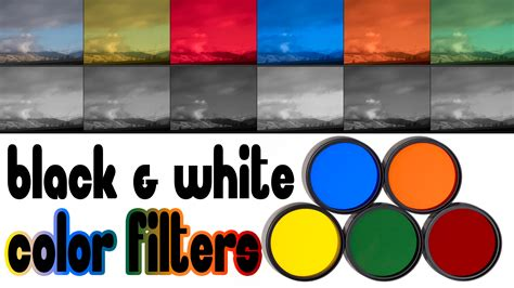 color filters  black white photography