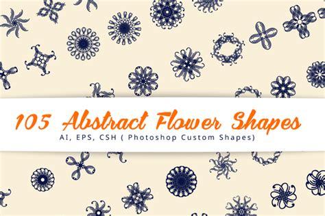 Abstract Flower Shapes 105 abstract flower shapes shapes on creative market